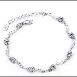 Delicate Silver Crystal Bracelet